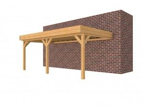 Douglasvision carport aanbouw plat dak 605x334