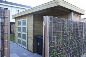 Tuinhuis met plat dak Best