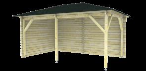 Blokhut Paviljoen P3050 voorbeeld