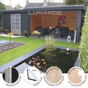 Modern tuinhuis + luifel Lugarde Prima Julia PR27