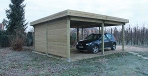 Dubbele carport Rogat