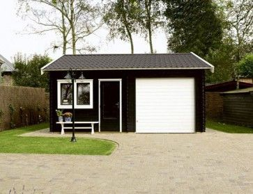 Blokhut Garage Birmingham voorbeeld