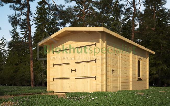 Houten Garage Kopen : Houten garage zadeldak type groenveld op maat kopen