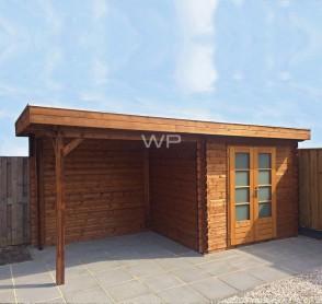 Woodpro blokhut met overkapping 26405