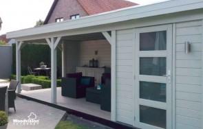 Tuinhuis met overkapping Burgerveen