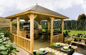 Blokhut Veranda Lugarde Hawai 300x300cm voorbeeld