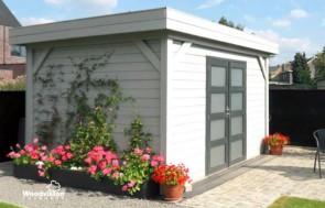 Tuinhuis met plat dak Moordrecht kopen