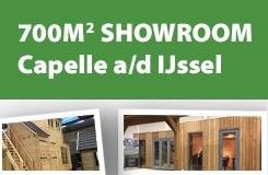 Kom naar onze overdekte showroom en bekijk uw mogelijkheden voor een prachtig tuinhuis of blokhut
