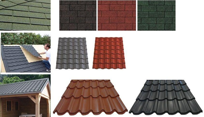 soorten dakbedekking tuinhuis en blokhut