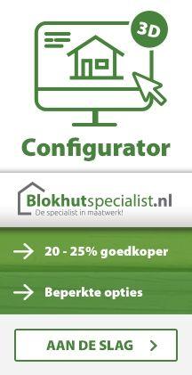 Blokhut tuinhuis Blokhutspecialist configurator