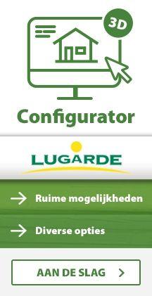Blokhut tuinhuis configurator Lugarde