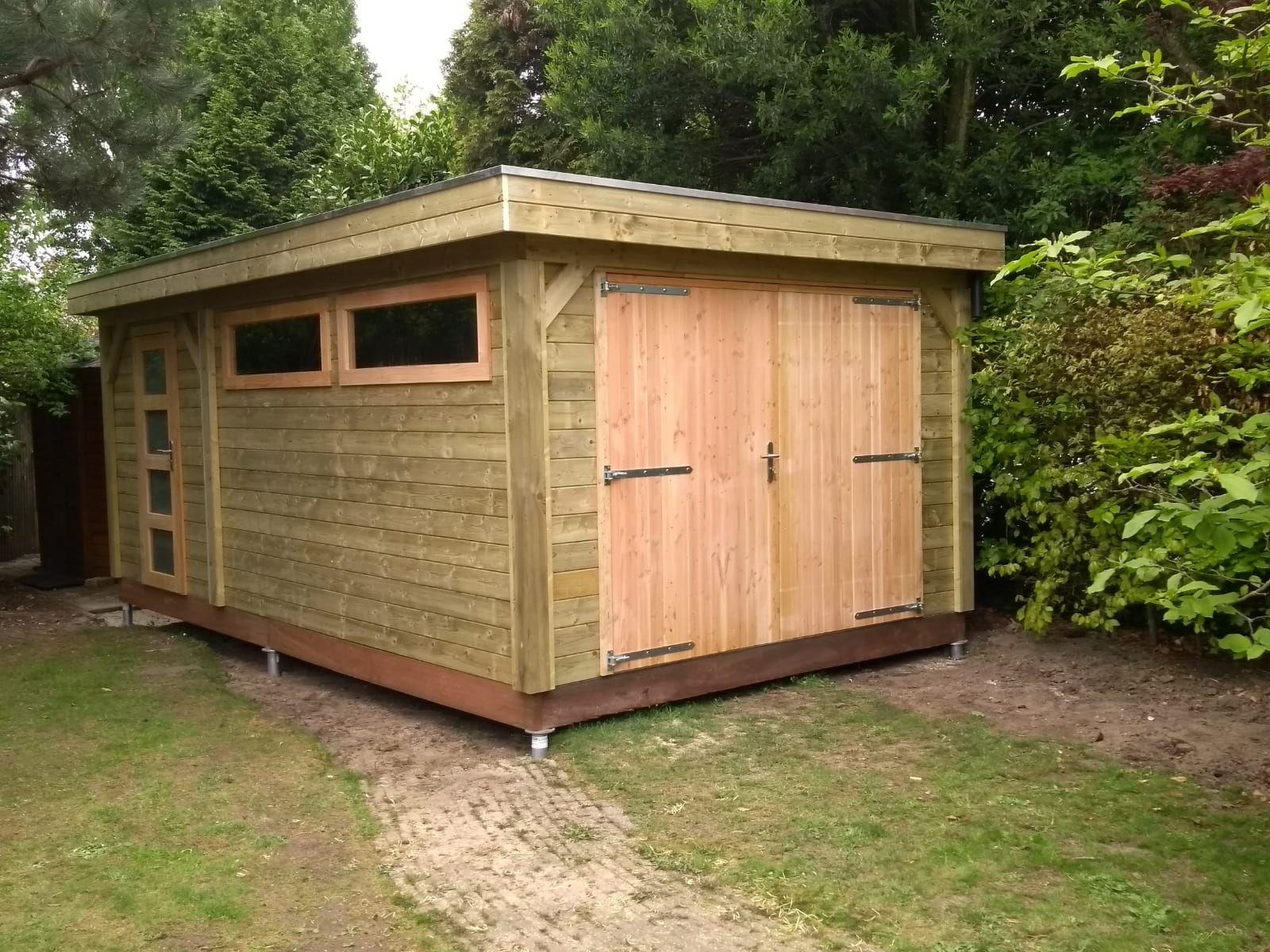 houten-garage-schroefpalen