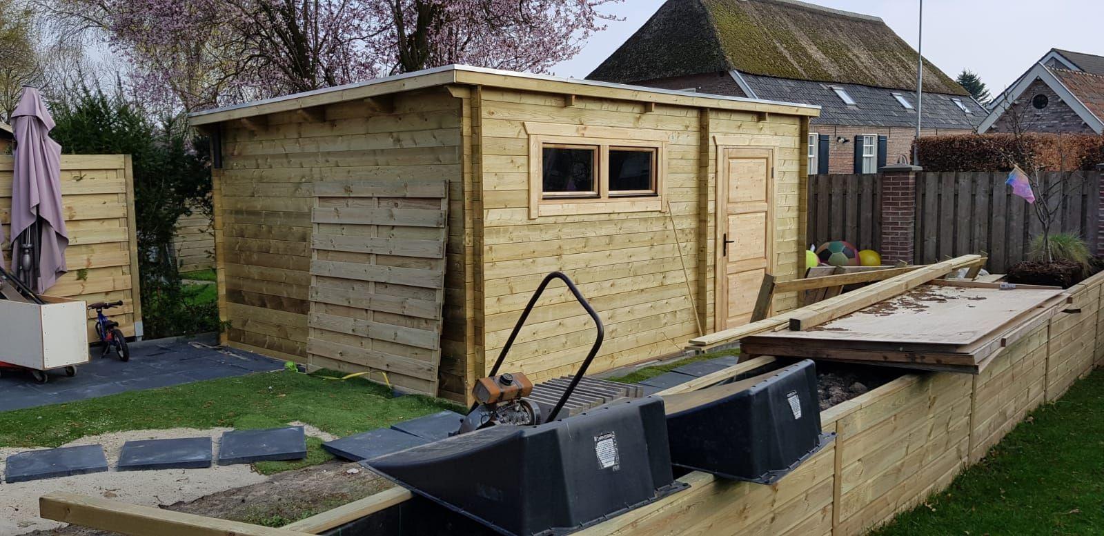 houten-garage-lessenaarsdak