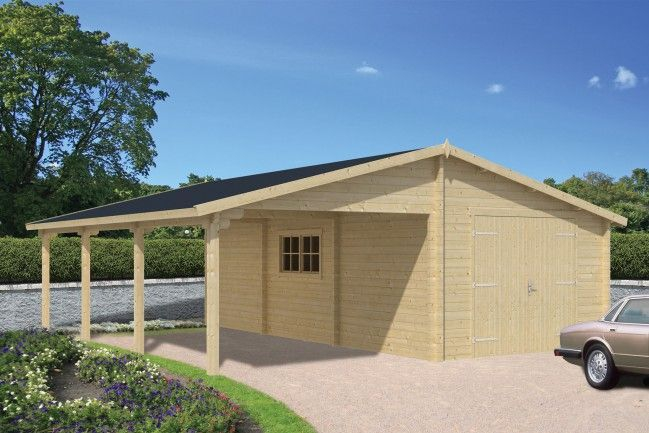 houten-garage-met-carport