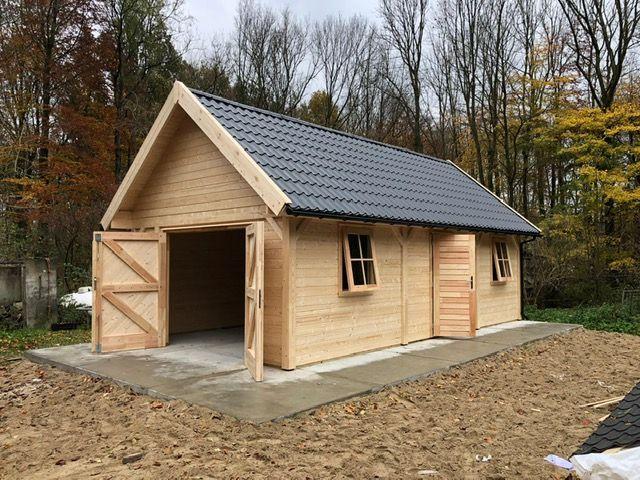 houten-garage-zadeldak